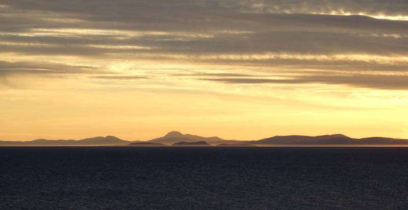 View from the cottages across the Minch